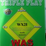 Bob's WX2I W1AW Triple Play WAS Award