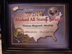 Tom's – WA2PNI ARRL Worked All States Award